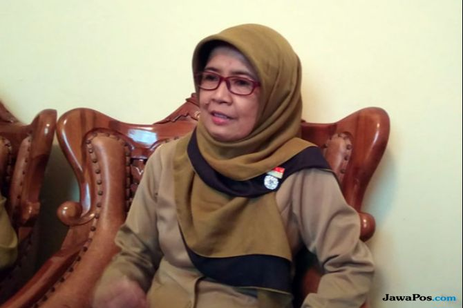 Kepala Sekolah SMP N 8 Kota Jogjakarta, Nuryani Agustina.