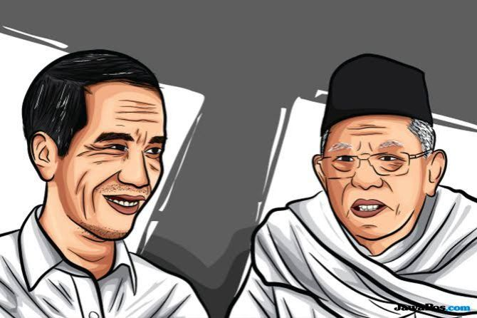 Capres Joko Widodo dan Cawapres KH Ma'ruf Amin