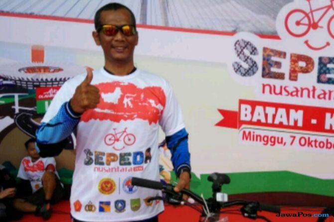 Djokowi Dapat Doorprize Sepeda Gunung di Batam