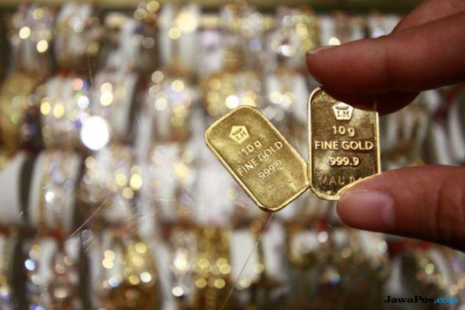 Dolar Menjinak Emas Bersinar, Emas Antam Turun Rp 1.000