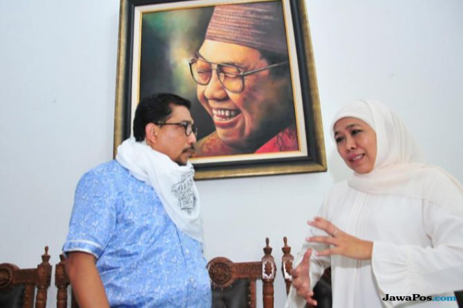 Eks Kapolda Jatim Sowan ke Rumah Khofifah Bahas Jokowi-Ma'ruf Amin