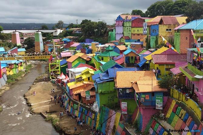 Kampung warna warni Jodipan Kota Malang