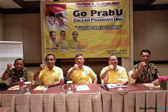 Forum Caleg Golkar Dukung Prabowo-Sandi, Beringin Terbelah?