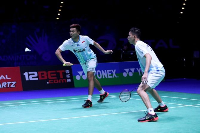 Swiss Terbuka 2019, Fajar Alfian/Muhammad Rian Ardianto, bulu tangkis, BWF