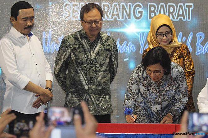 Gandeng Investor, Menteri Sri Mulyani Resmikan Proyek SPAM di Semarang