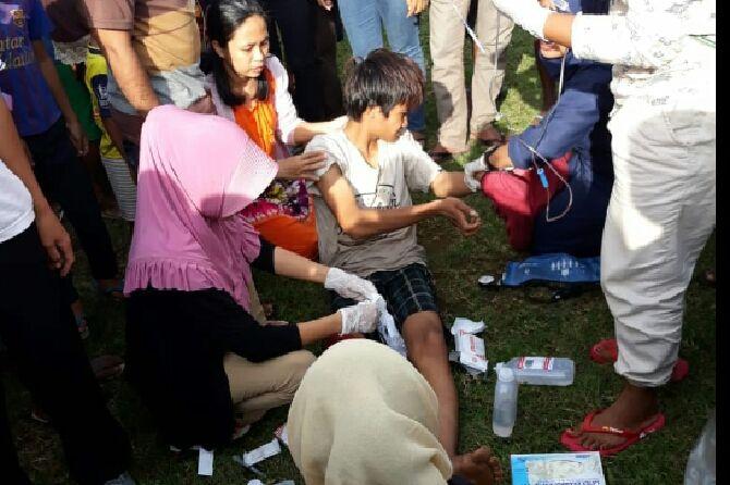 Gempa Guncang Lombok, Wisata Air Terjun Longsor
