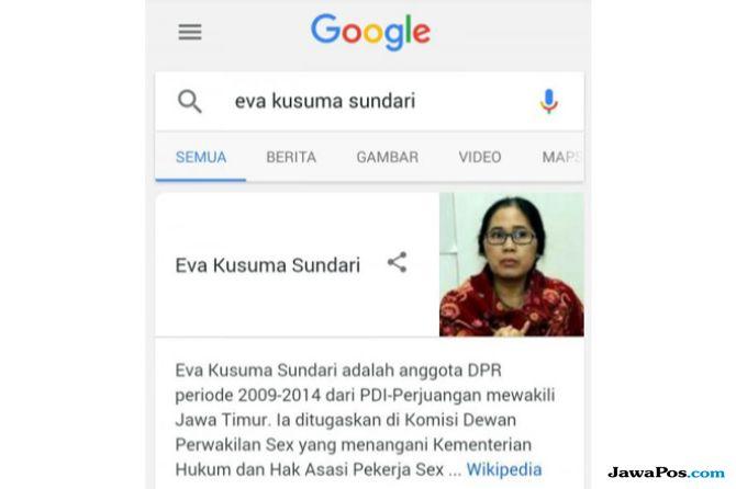Geramnya Eva Sundari Ketika Profilnya Ditulis 'Perwakilan Sex'