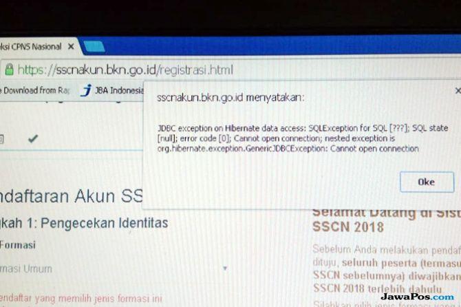 Hari Pertama Pendaftaran CPNS, Situs SSCN Sulit Diakses