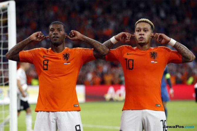 UEFA Nations League, Timnas Belanda, Timnas jerman, Belanda 3-0 Jerman