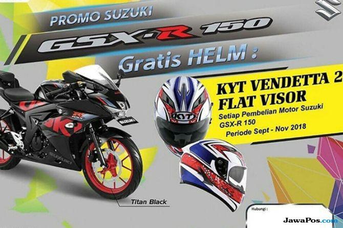 Helm Eksklusif Suzuki Ini Bikin Penunggang GSX-R150 Kian Sporty