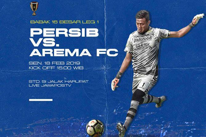 Jadwal Siaran Langsung, Jadwal Live TV, Persib Bandung, Arema FC, Piala Indonesia