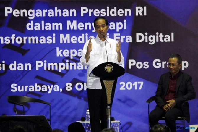Kunjungan Jokowi ke Jawa Pos