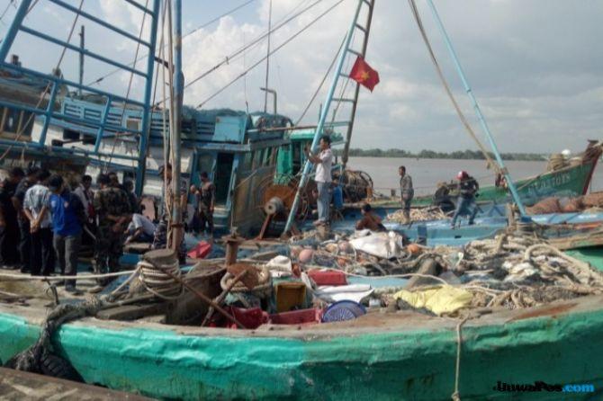 Kapal Latih Polnep yang Ditangkap Diduga Digunakan Illegal Fishing