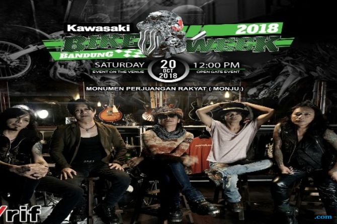 Kawasaki Bike Week 2018, Siap Digelar di Monumen Perjuangan Bandung