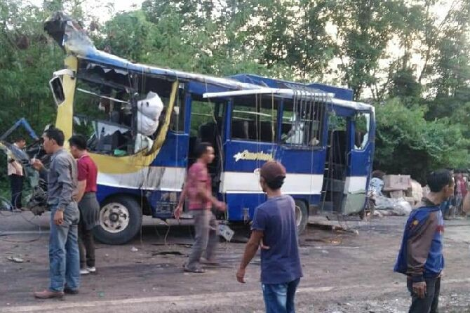 Kecelakaan Maut di Banyuasin, Diduga Kelalaian Bus Cemerlang