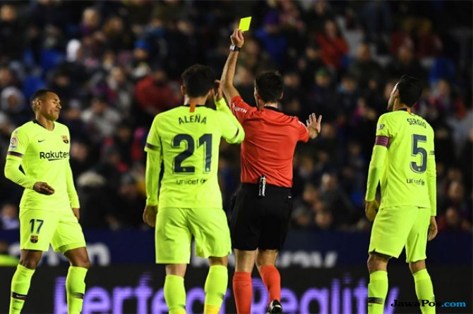 Copa del Rey 2018-2019, Levante, Barcelona, Levante 2-1 Barcelona, Barcelona kalah 2-1