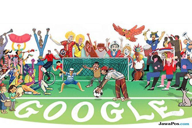 Tampilan Google Doodle