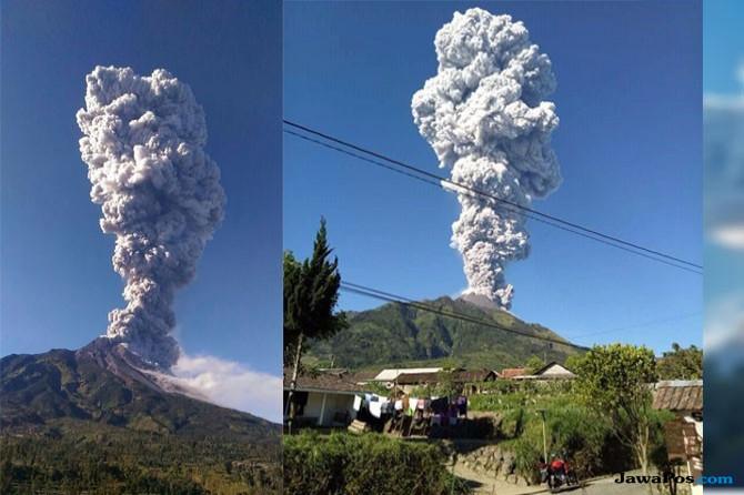 Ketinggian Erupsi Gunung Merapi Belum Diketahui