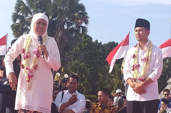 Khofifah Janjikan Tunjangan bagi GTT dan PTT Tahun Ini