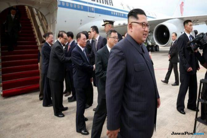 Kim Jong Un Tiba di Singapura