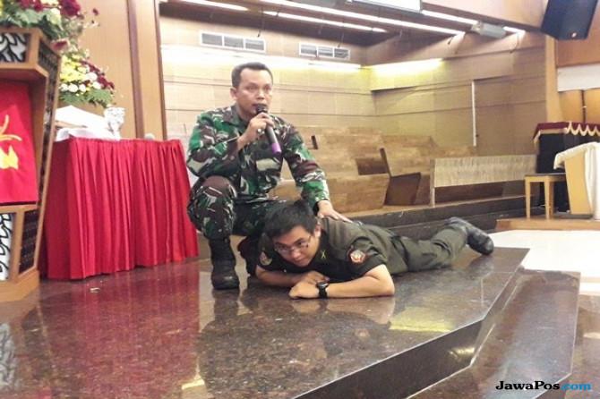 Koramil Tegalsari Gelar Bomb Blast Simulation di GKI Diponegoro