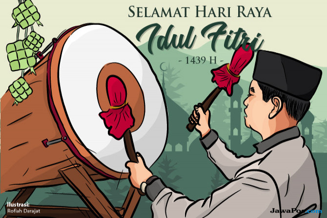 Ilustrasi Hari Raya Idul Fitri 1439 Hijriyah