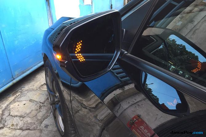LED Mirror Vertical Sequential, Spion Anti-silau Untuk Mobil