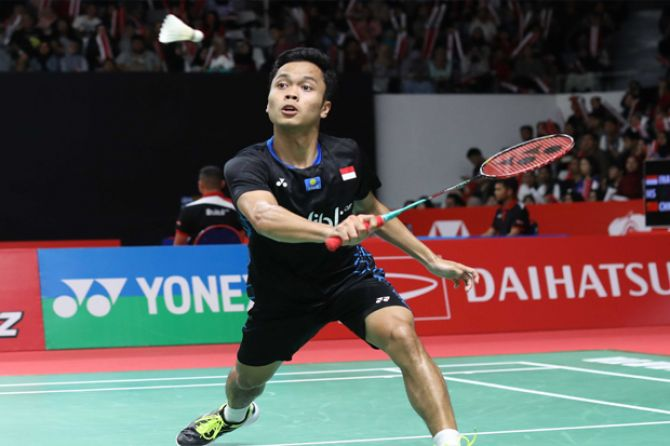 Indonesia masters 2018, Tunggal Putra Indonesia, Anthony Sinisuka Ginting