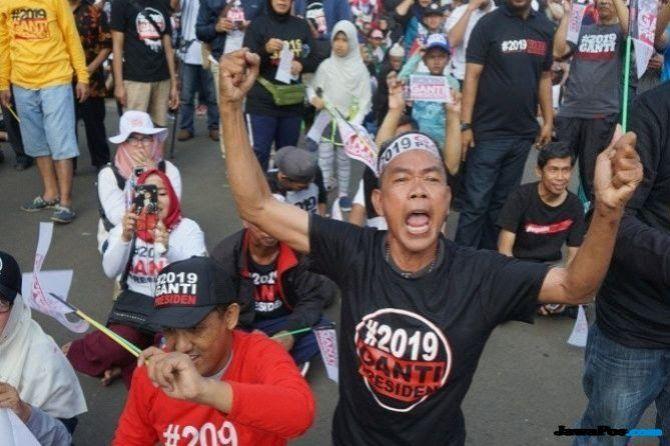 Makin Populer, Dukungan Terhadap #2019GantiPresiden Justru Nyungsep