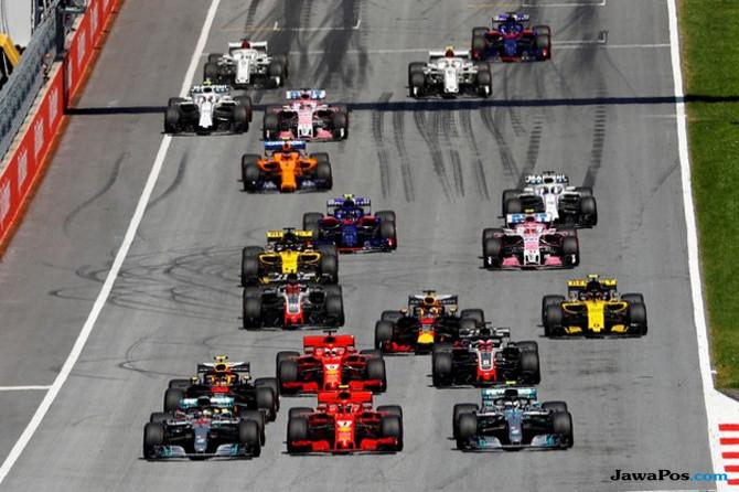 Formula 1, F1, GP Austria, Sebastian Vettel, Lewis Hamilton, Valterri Bottas, Daniel Ricciardo, Max Verstappen, Kimi Raikkonen