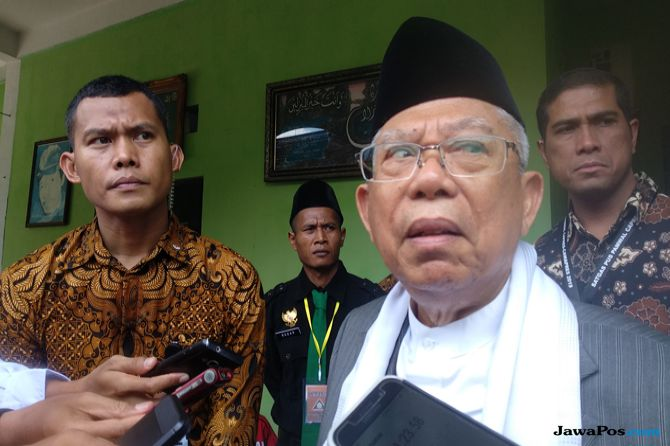 Ma'ruf Amin Gelar Konsolidasi Tertutup dengan PCNU se-Riau