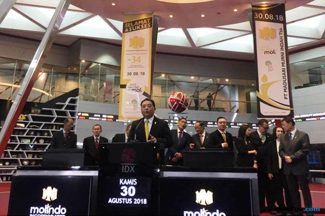 Melantai di Bursa, Kenaikan Saham MOLI Tembus 50 Persen