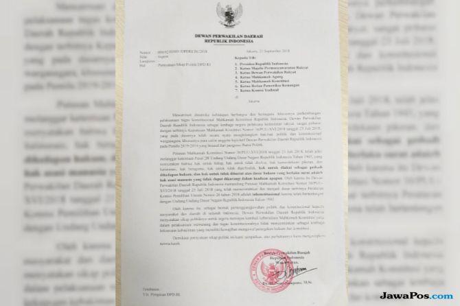 Minta Presiden Evaluasi MK, Nono Sampono Dilaporkan ke BK DPD