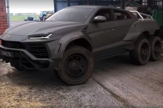 Modifikasi Keren, Lamborghini Punya 6 Roda