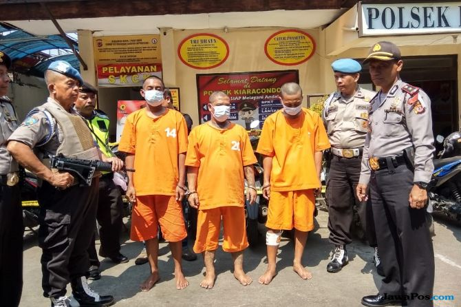 Modus Ngontrak di Bandung, Tiga Pelaku Curanmor Dibekuk Polisi