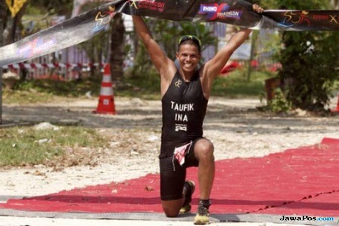 Muhammad Taufik Kembali Jadi Juara di Rhino X-Tri 2018