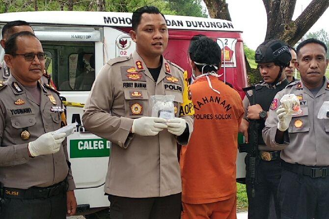 Oknum Tim Sukses Caleg Gerindra Ditangkap Bawa Sabu