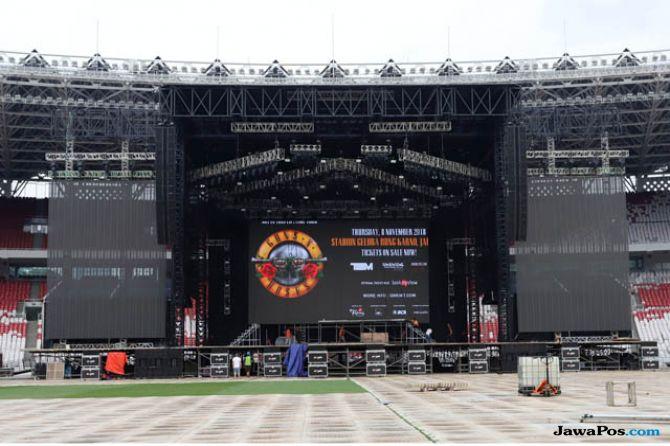 Panggung Rampung, Guns N' Roses Tak Sabar Hibur Penggemar di Jakarta