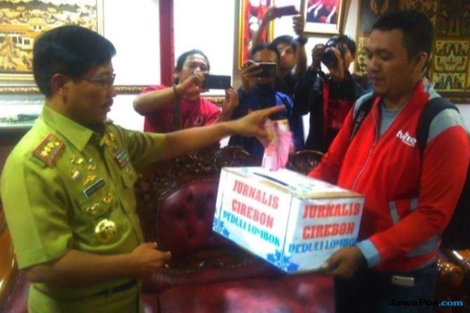 Peduli Korban Gempa Lombok, Jurnalis Cirebon Galang Donasi