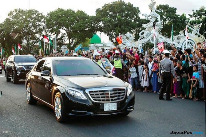 Pengamanan Superketat untuk Mobil Raja Salman