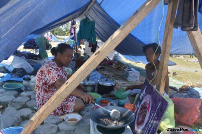 Pengungsi di Kampung Lere, Palu Masih Keluhkan Minimnya Bantuan