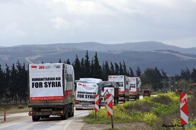 Pengungsi Korban Perang di Syria Ditampung di Perbatasan Turki