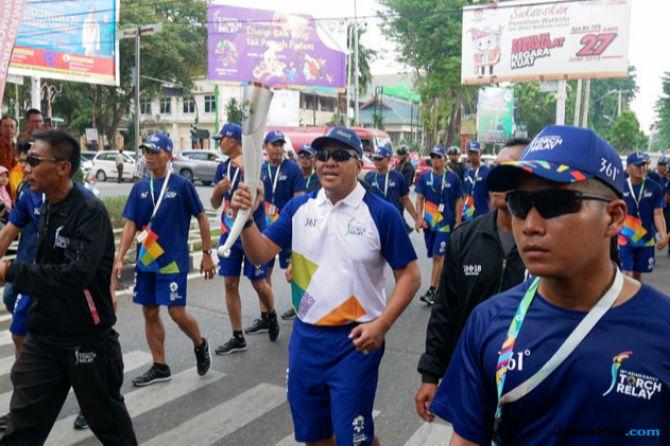 PGN Kawal Torch Relay Asian Games 2018 di Jambi