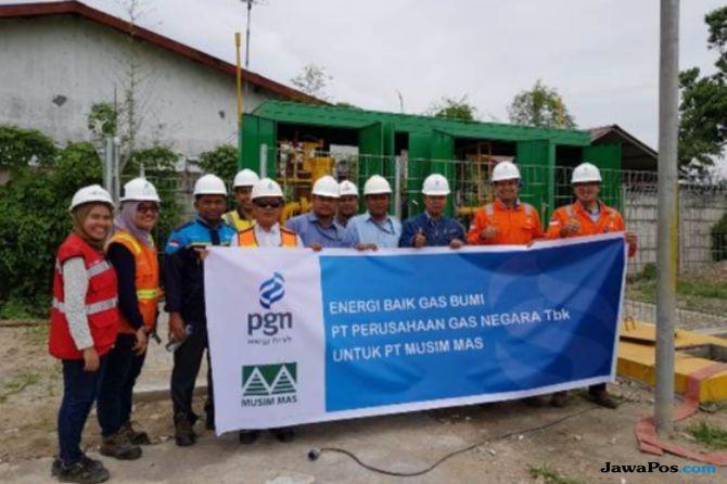 PGN Pasok Gas Bumi ke Pabrik Oleochemical Grup Musim Mas