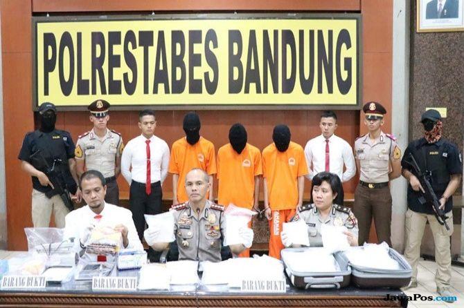 Polrestabes Bandung Sita Sabu Senilai Rp 20 M