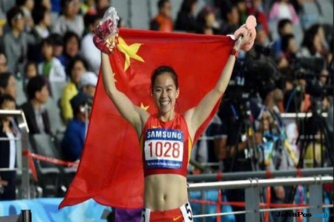 Wu Shuijiao, Tiongkok, atletik, lari gawang, doping