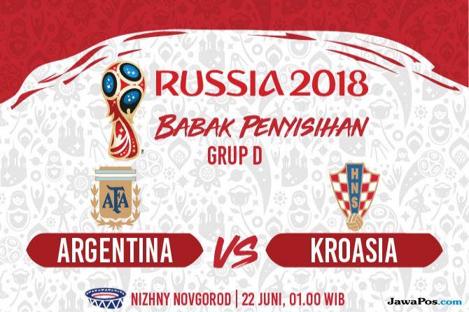 Piala Dunia 2018, Argentina, Kroasia, Argentina vs Kroasia