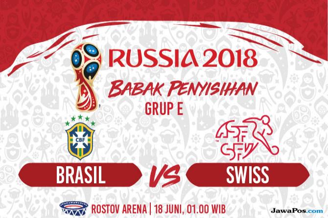 Piala Dunia 2018, Brasil, Swiss, Prediksi Brasil vs Swiss