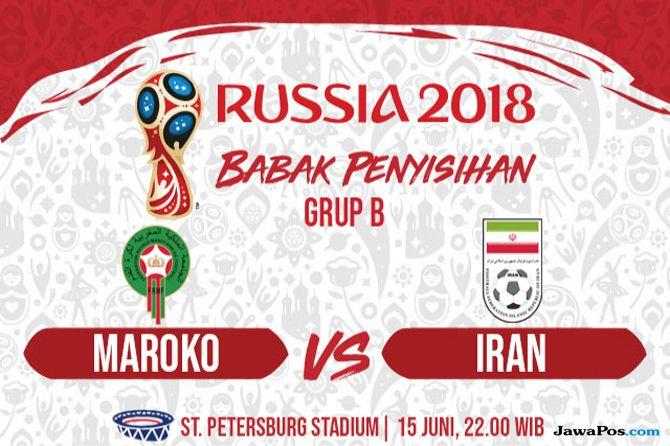 Prediksi Maroko vs Iran, Timnas Maroko, Timnas Iran, Piala Dunia 2018, Grup B