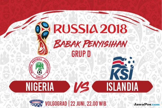Piala Dunia 2018, Nigeria, Islandia, Nigeria vs Islandia